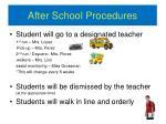 after school procedures