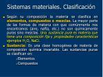 sistemas materiales clasificaci n