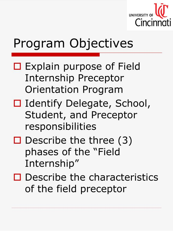 objectives of orientation program for students