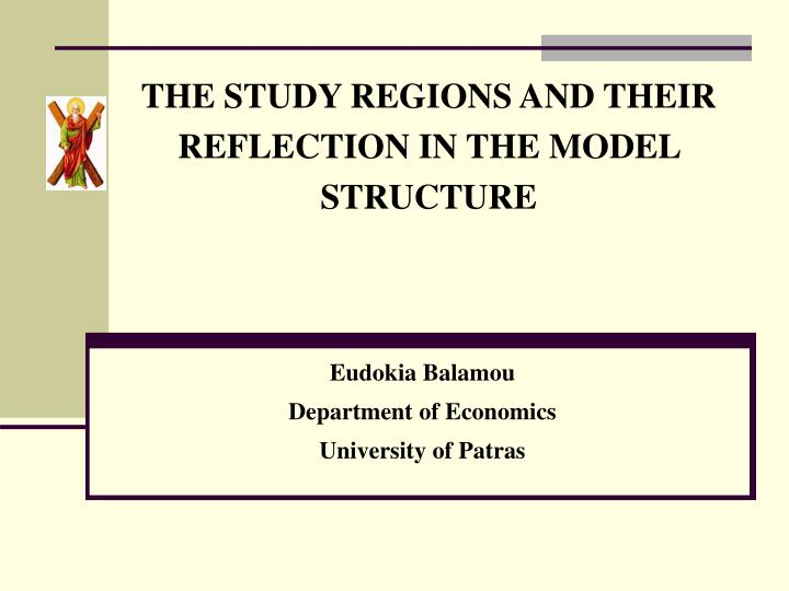 THE STUDY REGIONS AND THEIR REFLECTION IN THE MODEL STRUCTURE