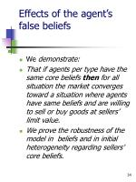 effects of the agent s false beliefs