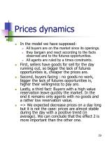 prices dynamics