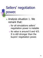 sellers negotiation power