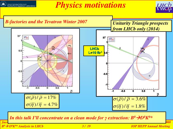 Physics motivations
