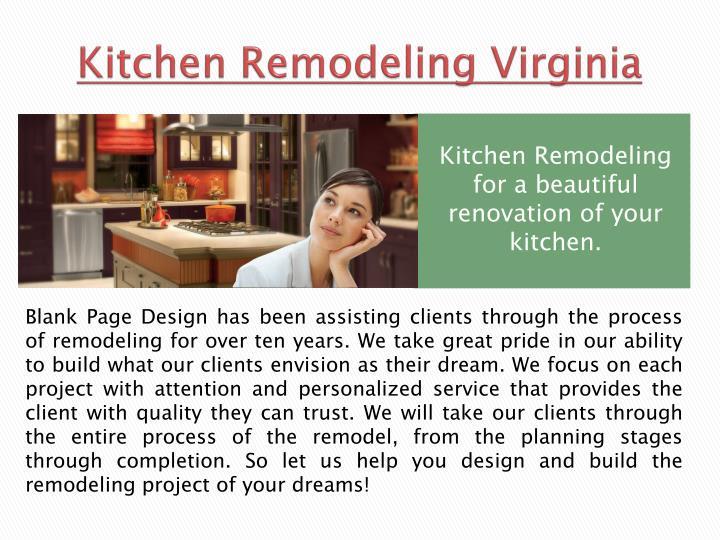 Kitchen remodeling virginia