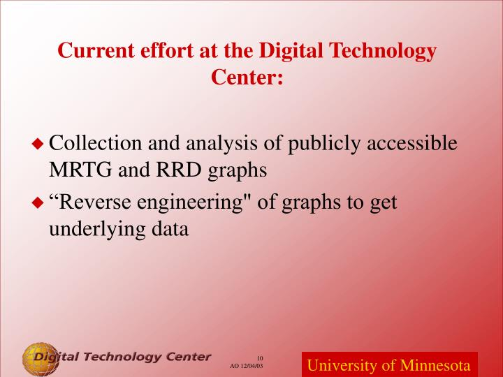 Collection and analysis of publicly accessible MRTG and RRD graphs