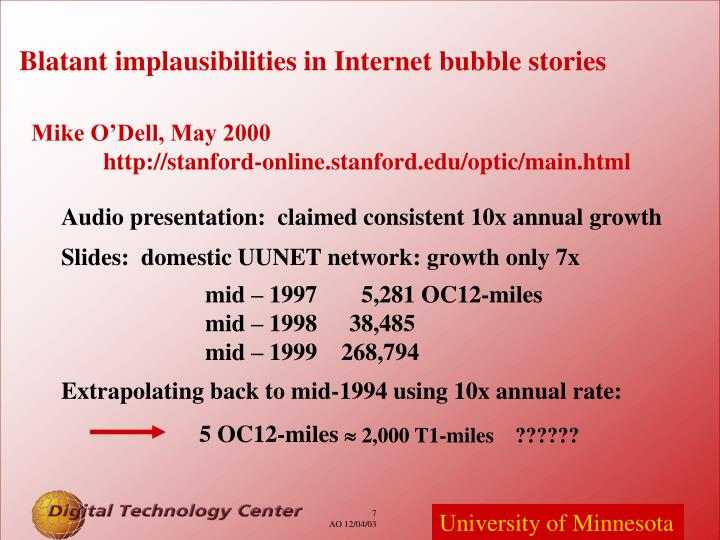 Blatant implausibilities in Internet bubble stories