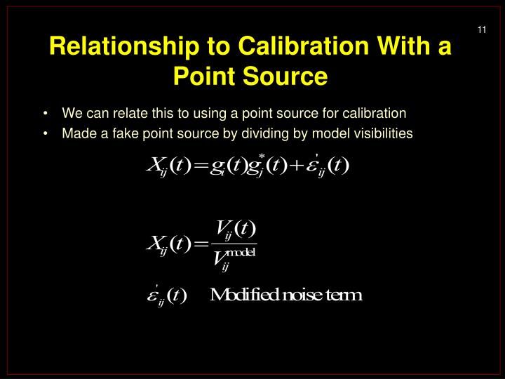 Relationship to Calibration With a Point Source