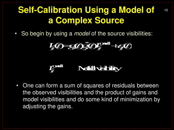 Self-Calibration Using a Model of a Complex Source
