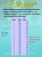 super cola example x and r chart