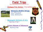 field trips we will need volunteers for all of our field trips