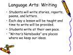 language arts writing