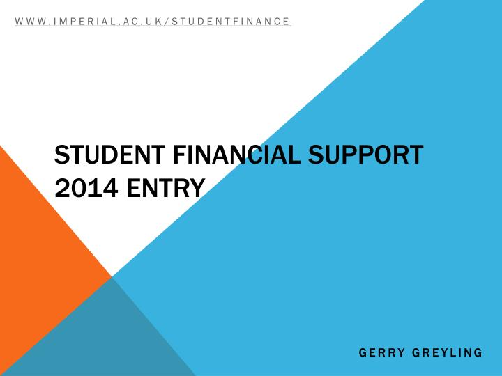 student financial support 2014 entry n.