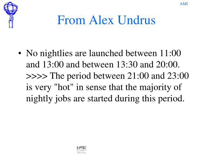 From Alex Undrus