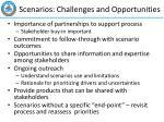 scenarios challenges and opportunities