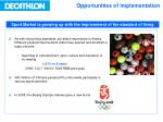 opportunities of implementation1