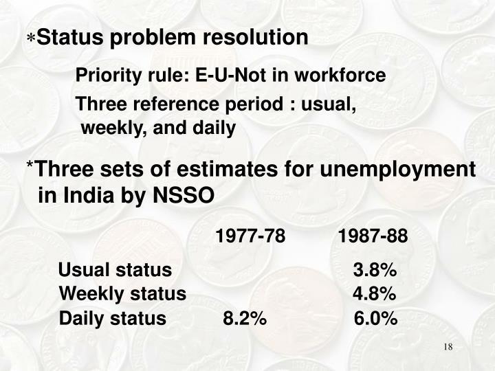 Status problem resolution