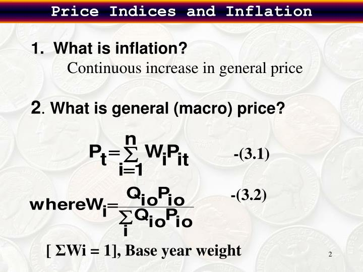 Price Indices and Inflation