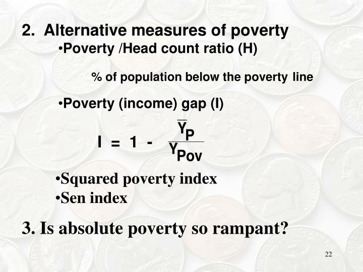 2.  Alternative measures of poverty