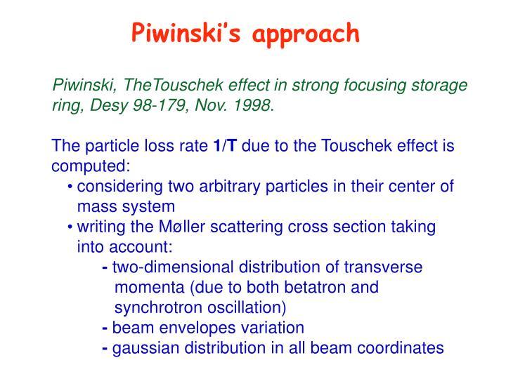 Piwinski's approach