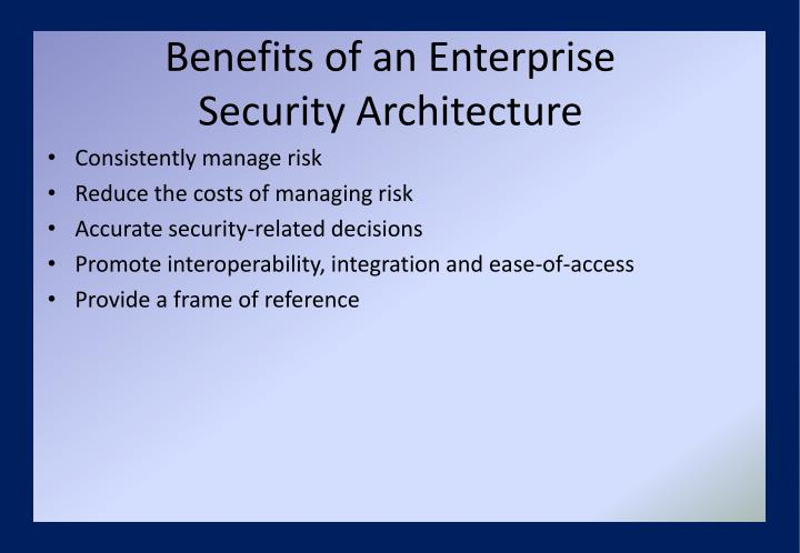 Benefits of an Enterprise
