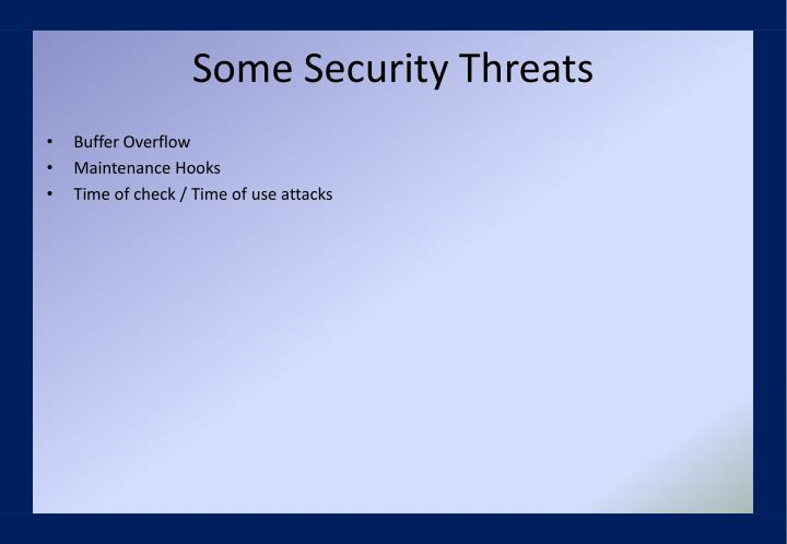Some Security Threats