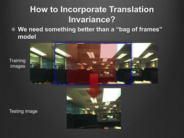How to Incorporate Translation Invariance?