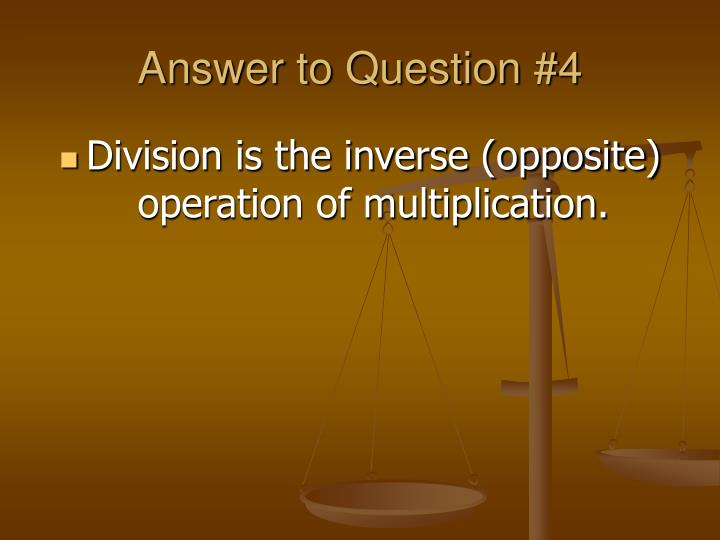 Answer to Question #4