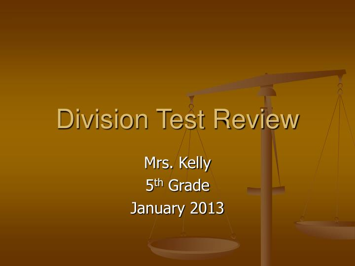 Division test review