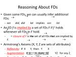 reasoning about fds