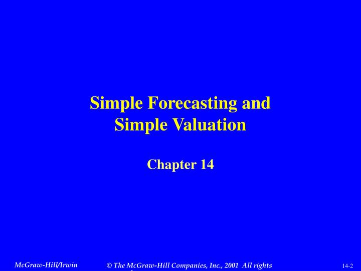 Simple Forecasting and