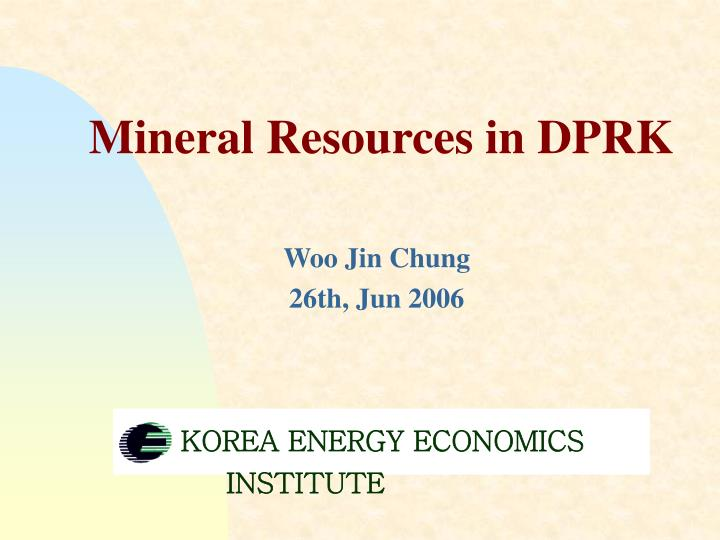 mineral resources in dprk n.