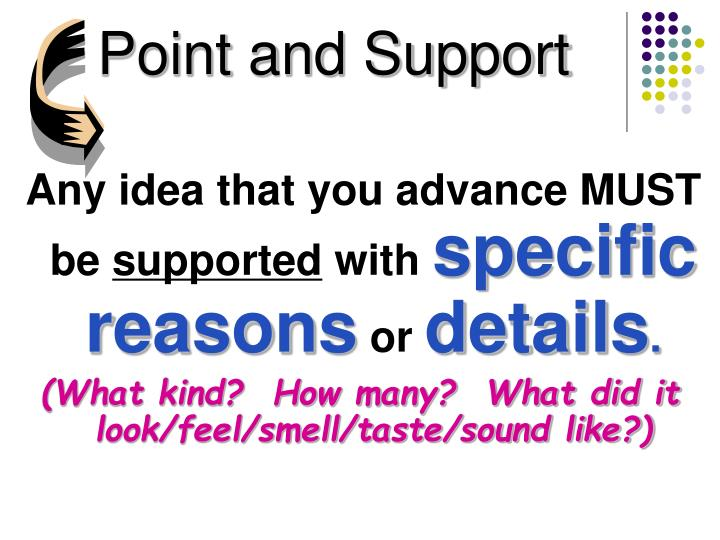 Point and support
