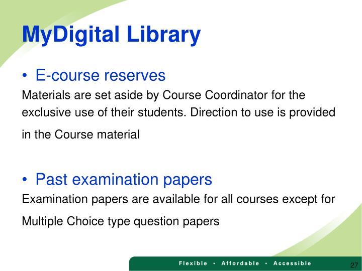 MyDigital Library
