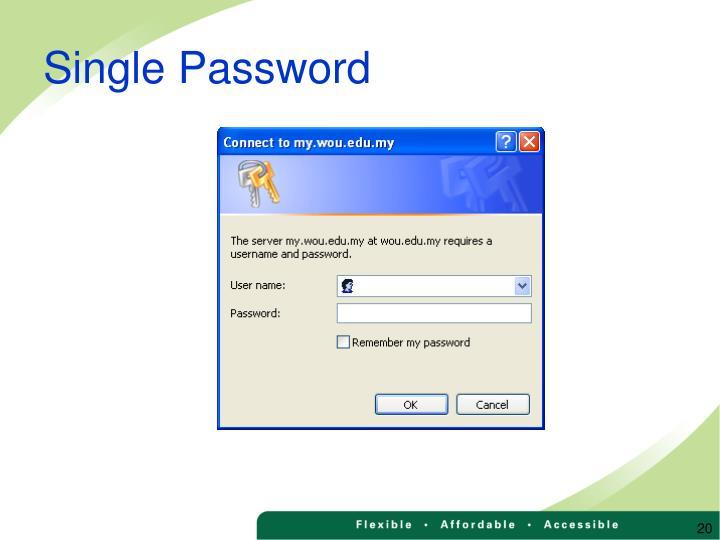 Single Password