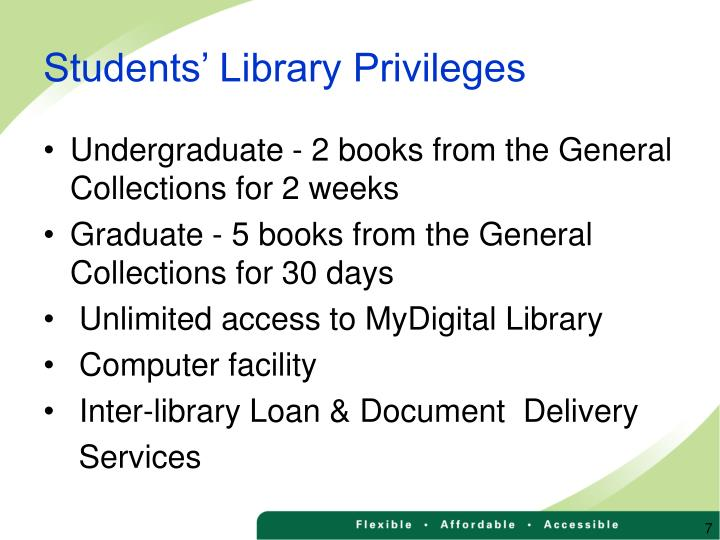 Students' Library Privileges
