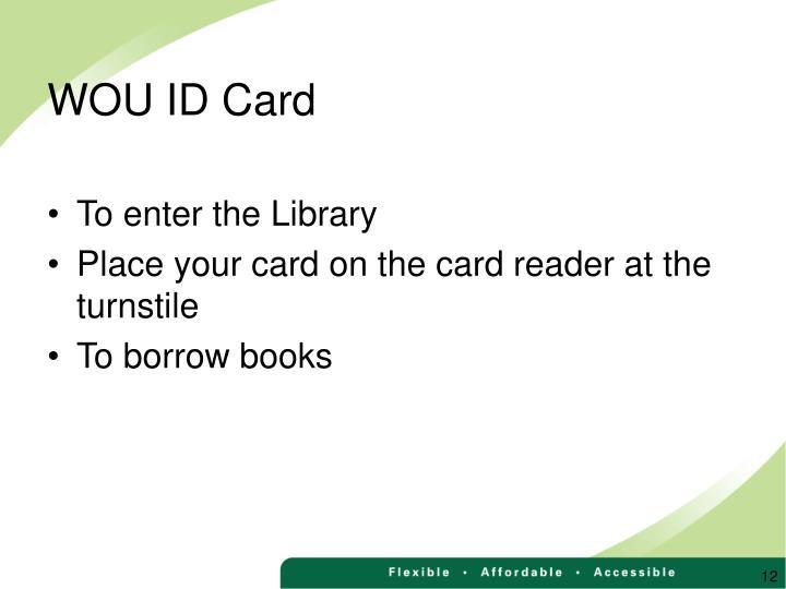 WOU ID Card
