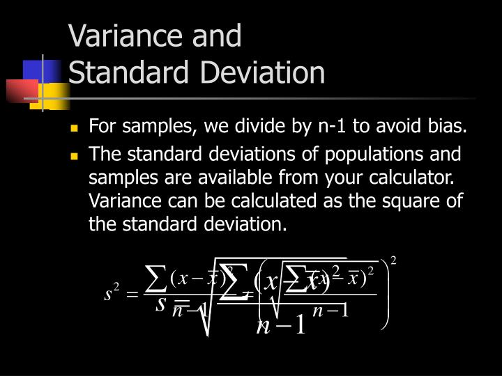 Variance and