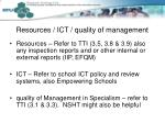 resources ict quality of management