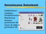 gemeinsame datenbank