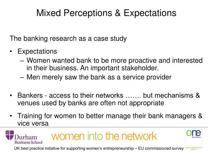 Mixed Perceptions & Expectations