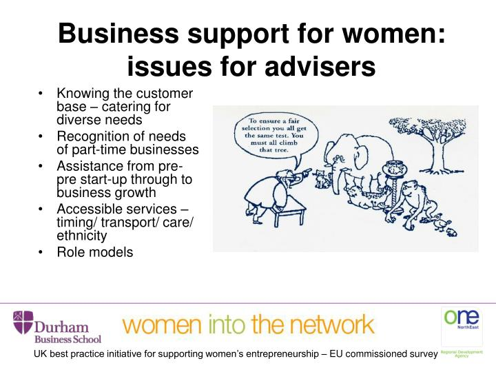 Business support for women: