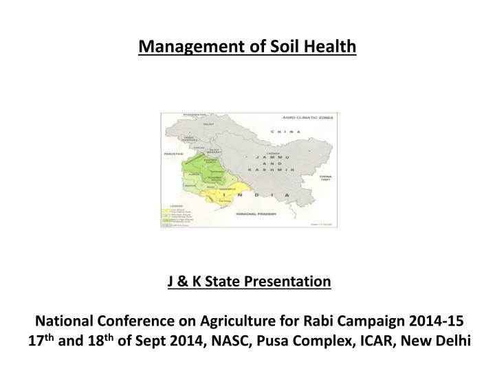 Management of soil health