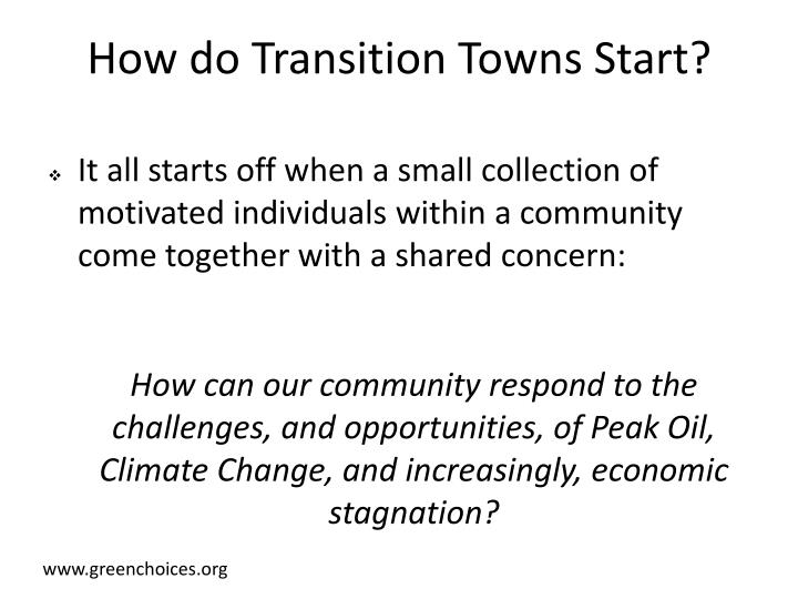 How do Transition Towns Start?