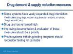 drug demand supply reduction measures