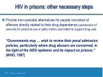 hiv in prisons other necessary steps1