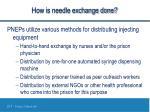 how is needle exchange done