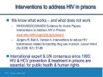 interventions to address hiv in prisons