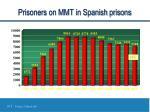 prisoners on mmt in spanish prisons