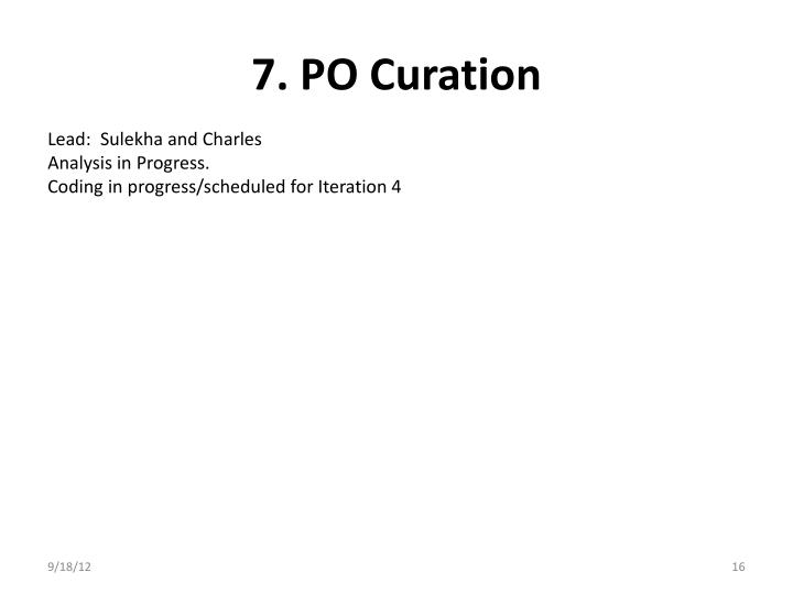 7. PO Curation